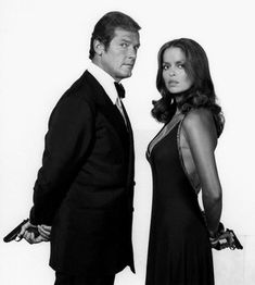 Roger Moore and Barbara Bach (The Spy Who Loved Me - 1977)