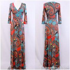 Coral & Mint Paisley Maxi Dress | Shannasthreads