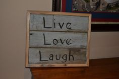 Live Love Laugh Primitive Country Wall Decor by ErinsLane on Etsy, $35.00