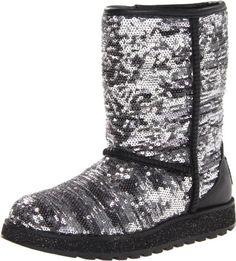 Skechers Women's Keepsakes-Sparkplug Snow Boot,Silver,6 M US