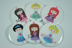 15 Personalized PRINCESS Birthday Party Favors,  Bachelorette Party Favors, Hen Party Favors, Bridesmaid Favors