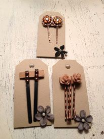 $3.00 barrettes in brown www.love-projects.com