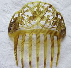 SIGNED Celluloid Antique Haircomb by AntiqueHaircombDepot on Etsy