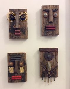 Four faces by Catherine Phelps. For Sale