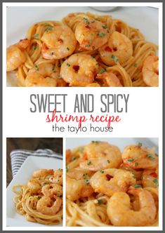 Delicious Sweet and Spicy Shrimp with Pasta Dish!