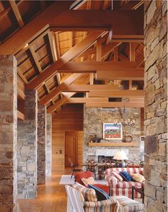 clear douglas fir -- wood timber and trusses -- exterior material