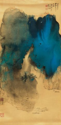 zhang-daqian_landscape-in-splashed-colors_1967