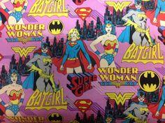 Items similar to Girl Power Pink Wonder Woman Supergirl Batgirl Fat Quarter on Etsy Batgirl, Supergirl, Female Superhero, Superhero Capes, Decoupage, Dc Comics Girls, The Only Exception, Wonder Woman, Pink Patterns