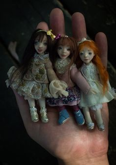 Mini Flower by RomanticWonders on Etsy Ooak Dolls, Art Dolls, Miniature Dolls, Miniatures, Romantic, Christmas Ornaments, Holiday Decor, Unique Jewelry, Handmade Gifts
