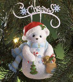 Cherished Teddies Ornament 2010 Christmas Snowbear NIB