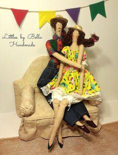 Valentines day dolls set Family doll tilda doll by littlesbyBella