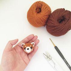 Crochet lesser(red) panda doll amigurumi by isodreams