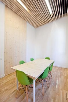 Cool idea for meeting room, with sound proofing...  CLEAN, MODERN OFFICE BY MICHAËL MENUET ARCHITECTE
