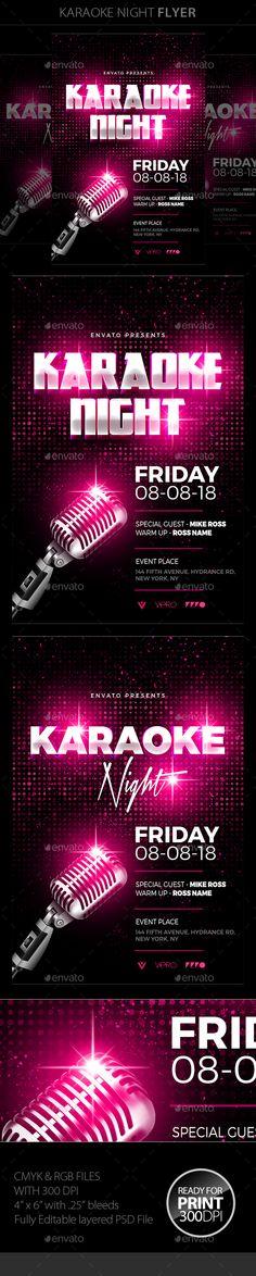 Girls Ladies Night Party Flyer Flyers ideas Pinterest Ladies - karaoke night flyer template