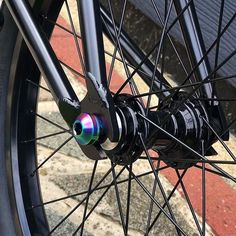 Our rainbow titanium hub bolts looking awesome on 's new setup 😍 Bicycle Paint Job, Bicycle Painting, Montain Bike, Bmx Parts, Motorised Bike, Bmx Freestyle, Garage Makeover, Dream Pools, Arno