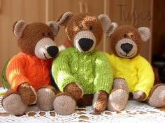 free knit toy patterns - Google Search