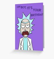 Rick and Morty Birthday Card Greeting Card