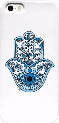 Blue Hamsa Phone Case