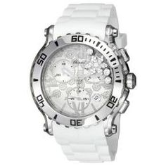 @Overstock - Chopard Happy Sport watches was an instant hit, innovatively combining stainless steel with diamonds. This classic timepiece features a white snow flake designed dial, chronograph functions, three floating diamonds and one floating snowflake.http://www.overstock.com/Jewelry-Watches/Chopard-Womens-Happy-Sport-Round-White-Diamond-Snow-Dial-Watch/6486567/product.html?CID=214117 $8,299.99