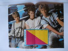 Daniel Greene A Ha Mini Poster Greek Magazines clippings 80s 90s | eBay