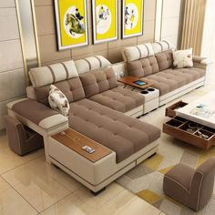 7 Seater Sectional Living Room Combination Corner sofa – My Aashis Sofa Set Designs, L Shaped Sofa Designs, Modern Sofa Designs, Living Room Tv Unit Designs, Living Room Sofa Design, Living Room Sectional, U Shaped Sectional Sofa, Corner Sofa Living Room, Fabric Sectional