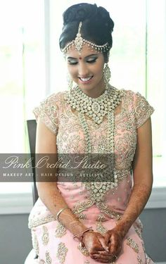 Indian bride makeover by Pink Orchid Studio