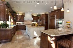 Dark Cabinets With White Island Design Ideas, Pictures, Remodel, and Decor - page 3