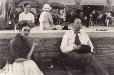 Frida Kahlo with Ice-Cream Cone, Jones Beach, New York, 1933. Photo by Lucienne Bloch.