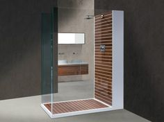 Rectangular Corian® shower cabin DOGATA Termotrattato Collection by Dogi by GeD Arredamenti | design Enzo Berti