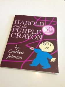 "Movement activities w/  ""Harold and the Purple Crayon"" by Crockett Johnson."