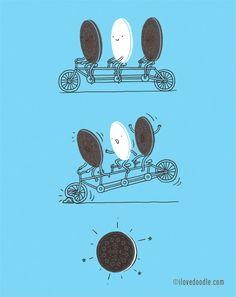 Y así nacieron las Oreo. #humor #risa #graciosas #chistosas #divertidas