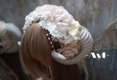 Cheap headband naruto, Buy Quality headband wedding directly from China horn Suppliers: lolita lace flowers large antlers hair bands hair ornaments Christmas kc court Hanayome bride photography props cos U