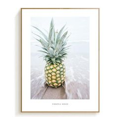 Pineapple Landscape Poster Seawater Painting Posters And Prints Nordic Poster Canvas Pictures For Living Room Wall Art Unframed