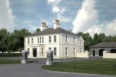 Neo-Georgian House in the Countryside – Interiors Georgian Style Homes, French Style Homes, Two Storey House Plans, Victorian Manor, Georgian Architecture, Architecture Design, Classic House Exterior, Facade House, House Facades