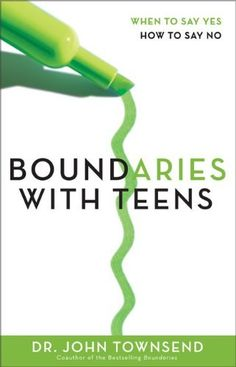 A must read if you have teen or will have one in your house soon....Boundaries with Teens: When to Say Yes, How to Say No by John Townsend. Great book!