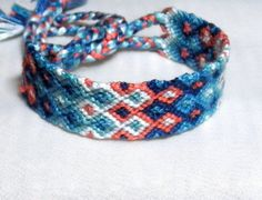 All set for an island adventure. Under the Sea knotted friendship bracelet. Ready to ship by NiceTouch, $12.00