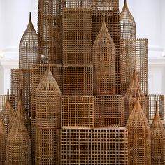 nstallation by Sopheap Pich for Singapore Biennale Cambodian artist Sopheap Pich's sculpture in rattan, bamboo and burlap Motif Tropical, 3d Modelle, Art Sculpture, Arte Popular, Wire Art, Art Plastique, Installation Art, Art Installations, Rattan