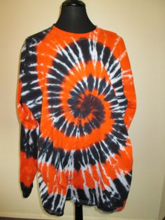 3X Large Tie Dye Long Sleeve Shirt Black and by AlbanyTieDye, $25.00
