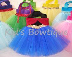 12 Frozen Elsa Inspired Party Favor Tutu Tote Bags by SewPizazzed