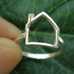 Home Sweet Home Ring  House Jewelry by yhtanaff on Etsy, $30.00