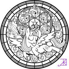 Twilicorn Coronation SG Coloring Page by Akili-Amethyst.deviantart.com on @DeviantArt