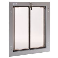 Amazon.com: PlexiDor Performance Pet Doors Large Silver Door Mount: Pet Supplies