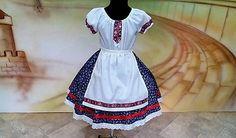 ShopDidi / Dievčenská Folk súprava Folk Costume, Costumes, Summer Dresses, Girls, Fashion, Toddler Girls, Moda, Dress Up Clothes, Summer Sundresses