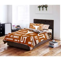 NCAA Anthem Bedding Comforter Set with Sheets, University of Texas