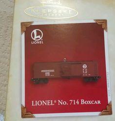 Hallmark Keepsake Christmas Ornament - Lionel Trains - No. 714 Boxcar 2005 NIB
