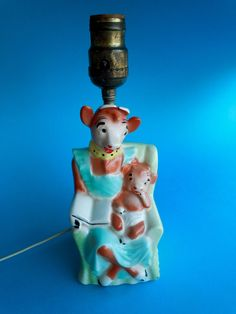 Vintage Borden's Elsie the Cow & Beauregard Lamp 1950's  125.00 no sale 3 offers 2 chips and crazing