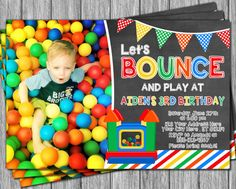 Bounce House Birthday Invitation  Printable Bounce by PuggyPrints