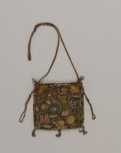 Purse (Image 1) | British | early 17th century | canvas, silk | Metropolitan Museum of Art | Accession #: 64.101.1263