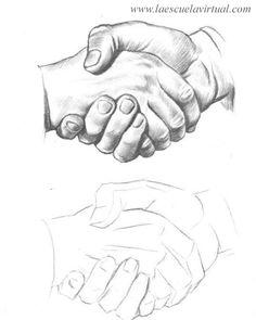 Como dibujar las manos pasrte 2 curso gratis cursillo online how to draw children baby hands drawing draw dibujo lapiz dedos