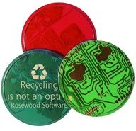 Recycled Content: Circuit boards recovered from outdated and defective PC board production and thus diverted from landfills.